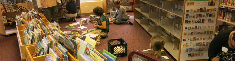 Preparing books to be shelved by author rather tnan accelerated reading levels.